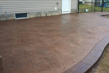 Pattern: Large Random Flagstone - Colors: Maple Syrup With Walnut And Autumn Brown Border