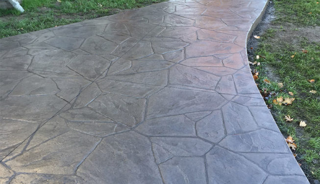 Pattern: Large Random Flagstone - Colors: Portabella With Clear Release