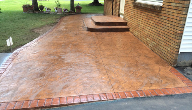 Pattern: Slate Skins - Colors: Brick Oven With Dark Gray And Brick Red Border