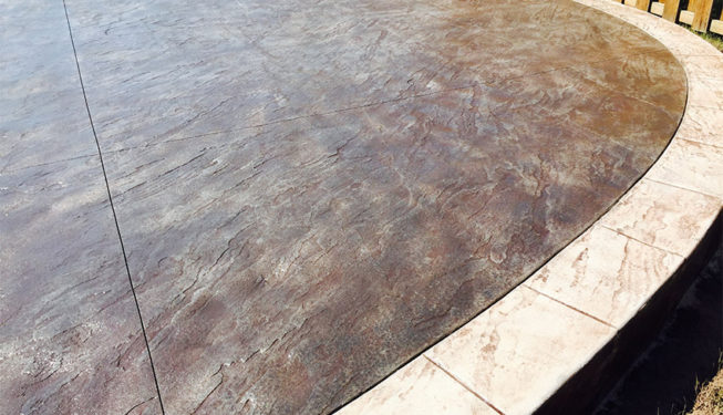 Pattern: Slate Skins - Colors: Hailstorm Gray With Walnut And Sabal Border