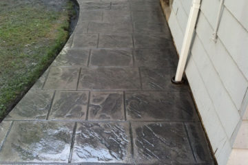 Pattern: Old English Sidewalk Slate - Colors: Hailstorm Gray with Dark Gray
