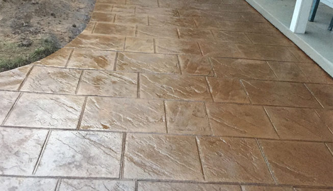 Pattern: Old English Sidewalk Slate - Colors Sand Dune with Desert Tan